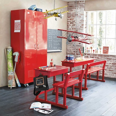 rouge loft la penderie en mtal loft est idale pour un amnagement de chambre ou pour meubler un studio inspir du with with vestiaire maison du monde