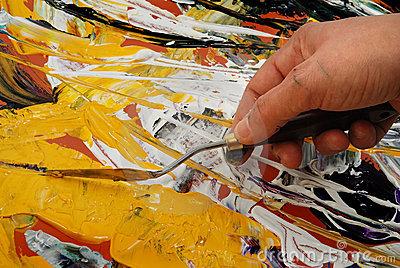 peinture avec la spatule JVC jevouschouchoute