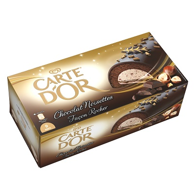 Bûche Chocolat Noisettes Façon Rocher_Carte d'Or-jvc-jevouschouchoute