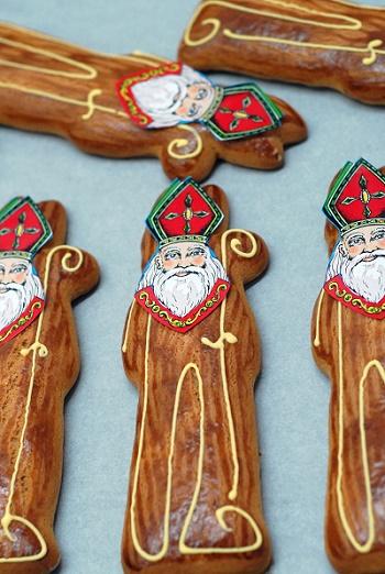 Fabrication de St-Nicolas en pain d'épices