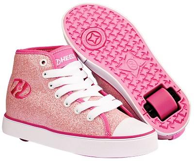 heelys-jevouschouchoute-jvc-Veloz Pink Glitter - 69,99euros