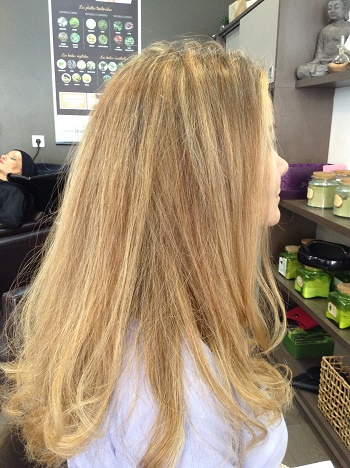 Coloration vegetale pour blonde