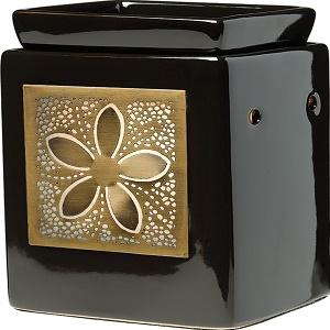 Scentsy-Cube Ebony et Cadre Brass Blossom-jevouschouchoute-jvc