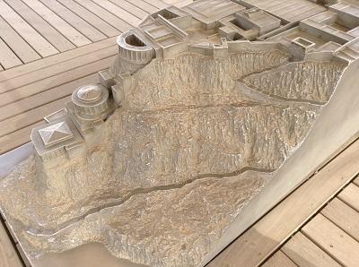 Maquette de la forteresse de Massada