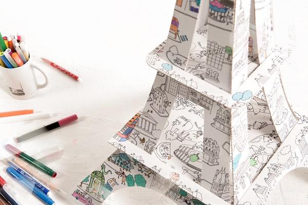 Tour Eiffel à colorier-jvc-jevouschouchoute