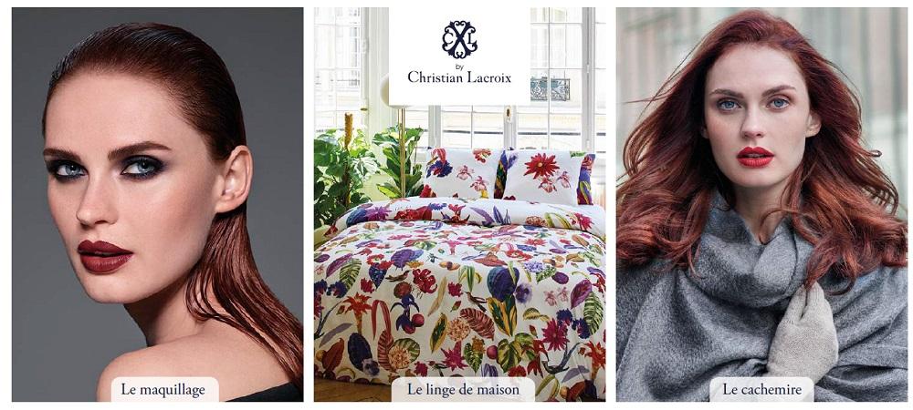 christian lacroix fait entrer maquillage et cachemire chez carrefour. Black Bedroom Furniture Sets. Home Design Ideas